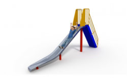 B006-001 - 1.5m High Free Standing Slide (Thumbnail)