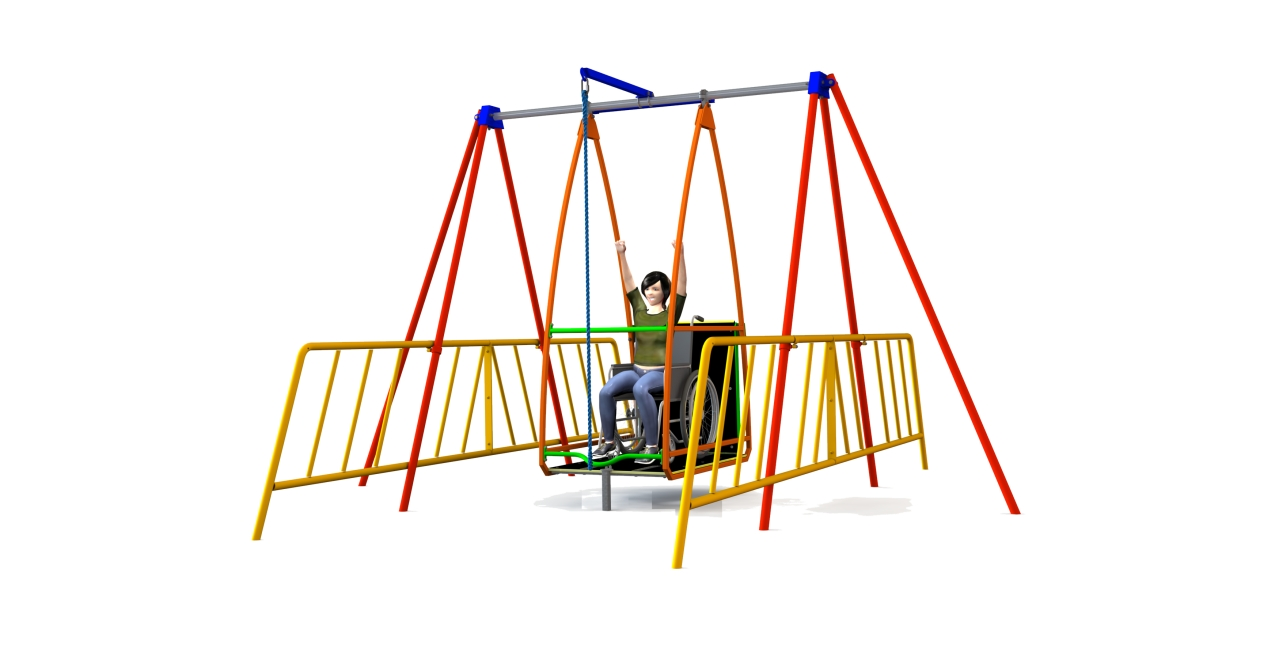 GL Jones Playgrounds - AbilitySwing - Wheelchair Swing