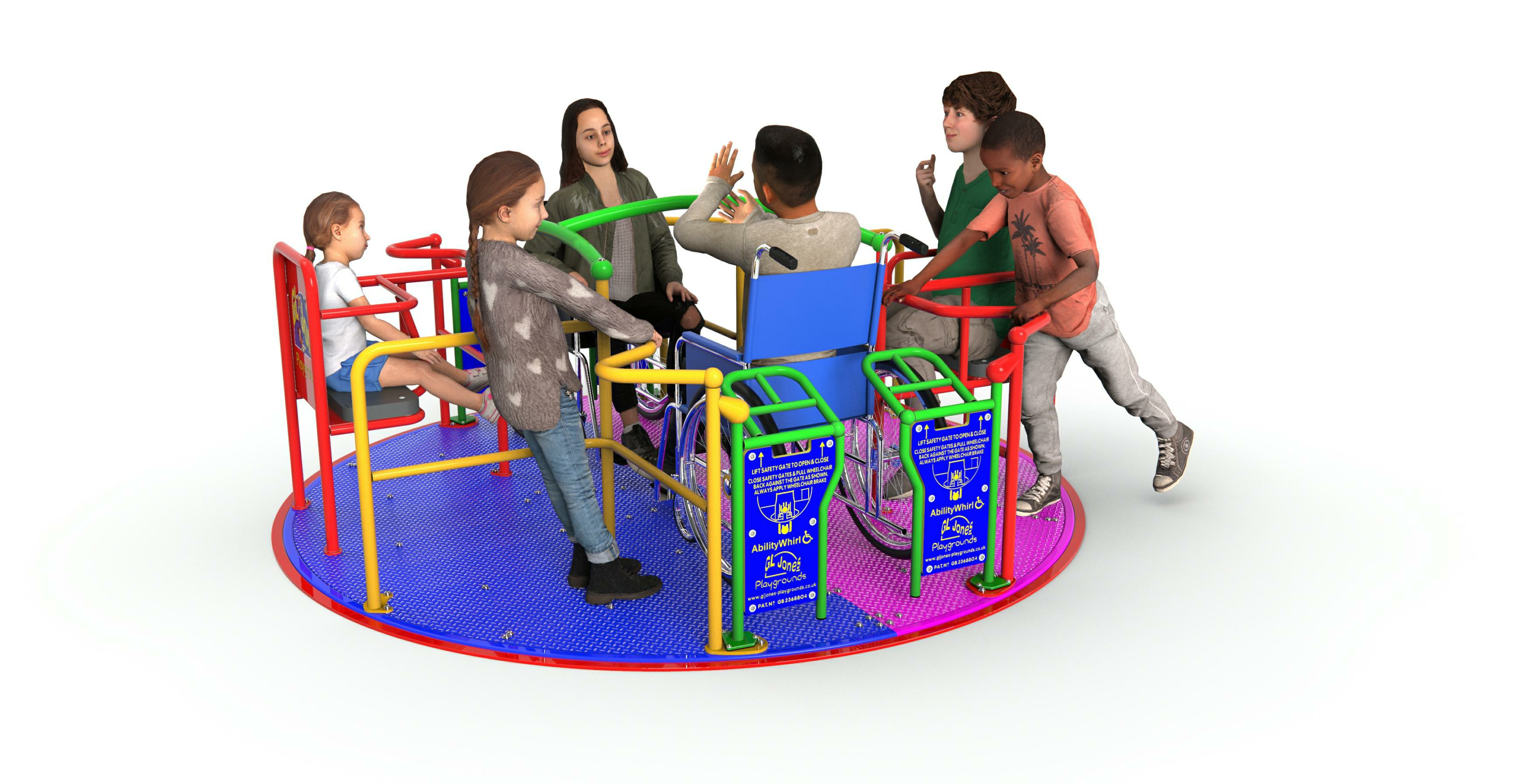 GL Jones Playgrounds - AbilityWhirl - 2.4m Inclusive Roundabout
