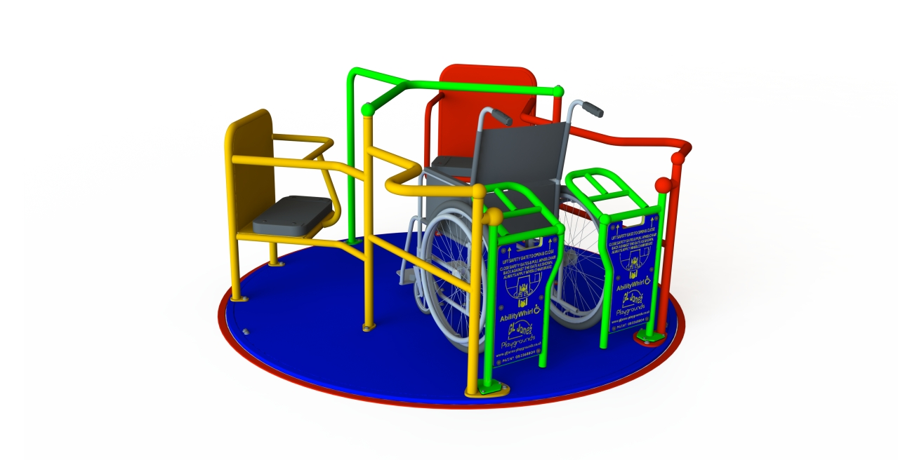 GL Jones Playgrounds - Ability SpaceWhirl - 1.8m Inclusive Roundabout