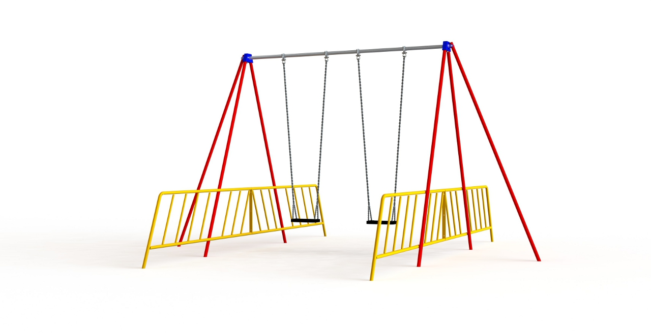 GL Jones Playgrounds - 2.9m High 1 Bay Senior Traditional Swing - 2 Seat
