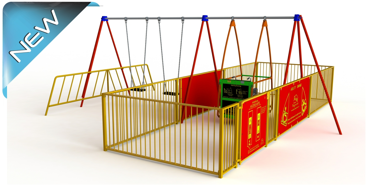 GL Jones Playgrounds - AbilitySwing with Side Entry Enclosure & 2 Seats