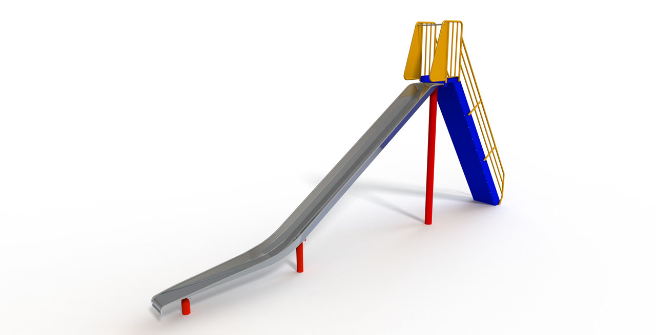 GL Jones Playgrounds - 2.4m High Free-Standing Slide