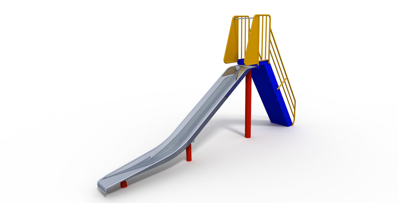 GL Jones Playgrounds - 1.5m High Free-Standing Slide
