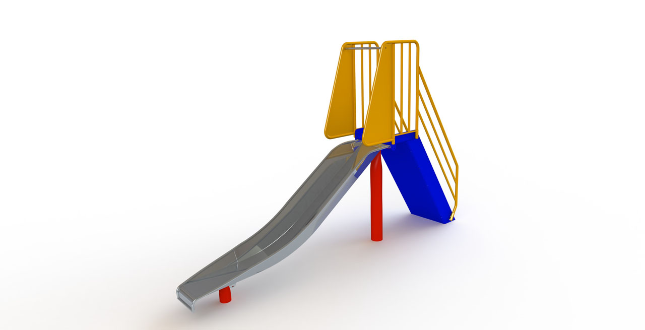 GL Jones Playgrounds - 1.0m High Free-Standing Slide