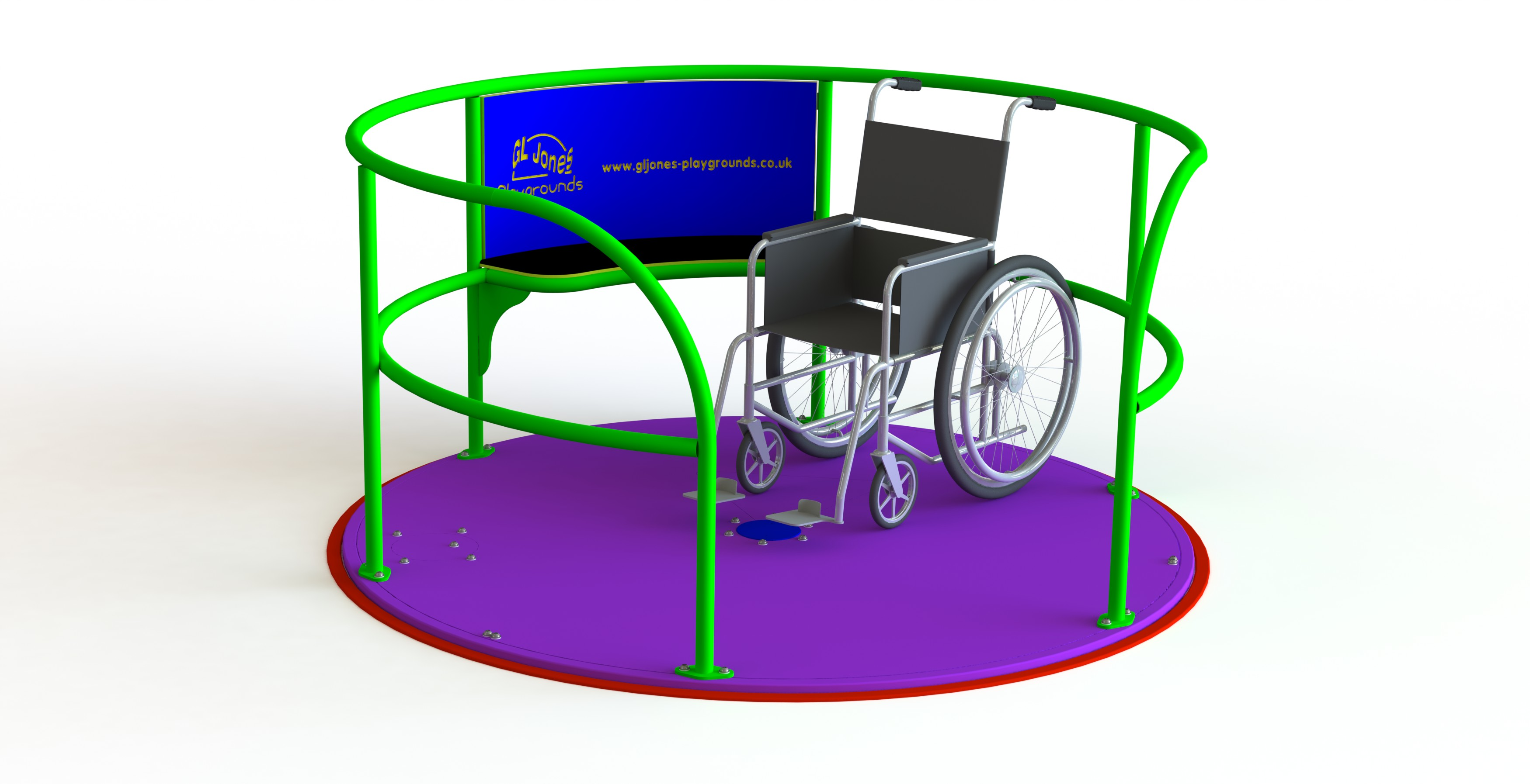 GL Jones Playgrounds - 1.8m diameter Wheelchair Ability SpaceDisk