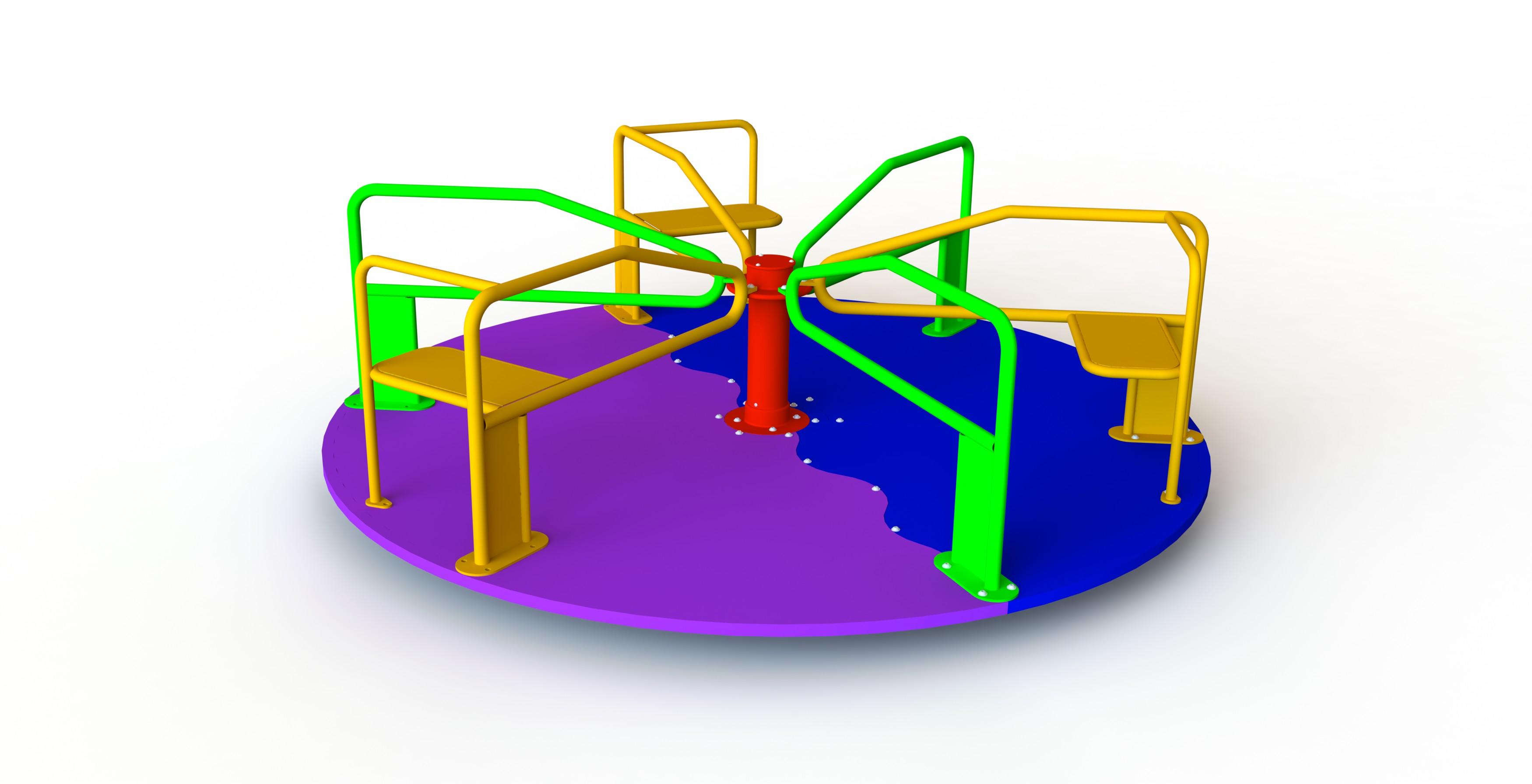 GL Jones Playgrounds - 2.4m diameter 3 Seat Whirling Platform