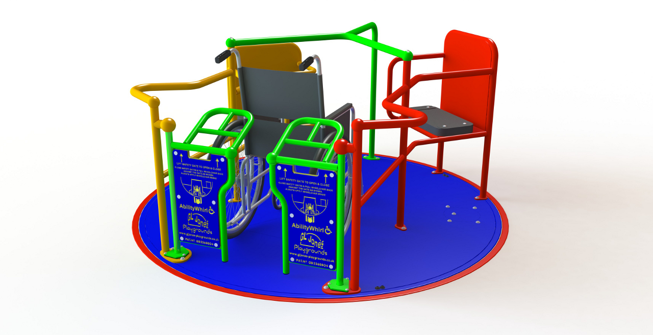 GL Jones Playgrounds - Ability SpaceWhirl - 1.8m One Wheelchair Roundabout