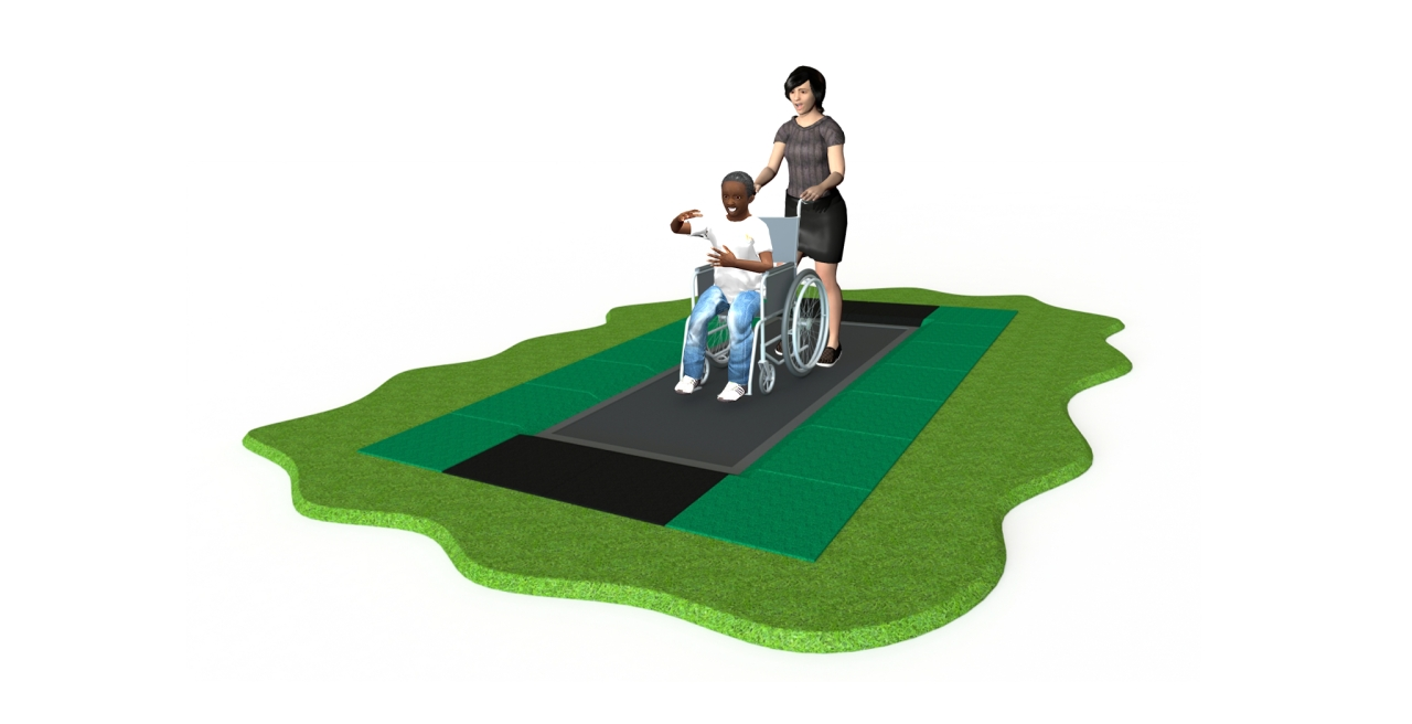 GL Jones Playgrounds - AbilityTrampoline - Wheelchair Trampoline